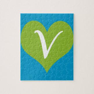 Gráfico simple del vegano puzzles con fotos