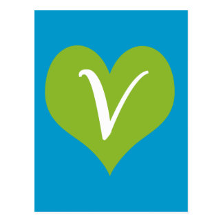 Gráfico simple del vegano tarjetas postales