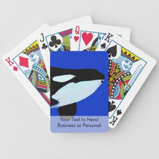 gráfico subacuático de la orca de la orca baraja de cartas bicycle
