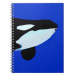 gráfico subacuático de la orca de la orca libretas