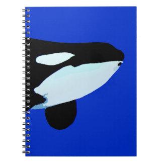 gráfico subacuático de la orca de la orca libros de apuntes