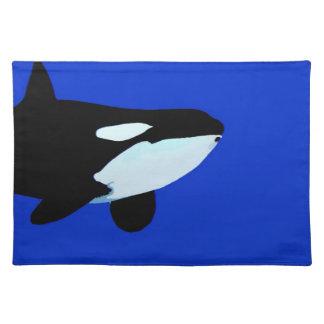gráfico subacuático de la orca de la orca mantel individual