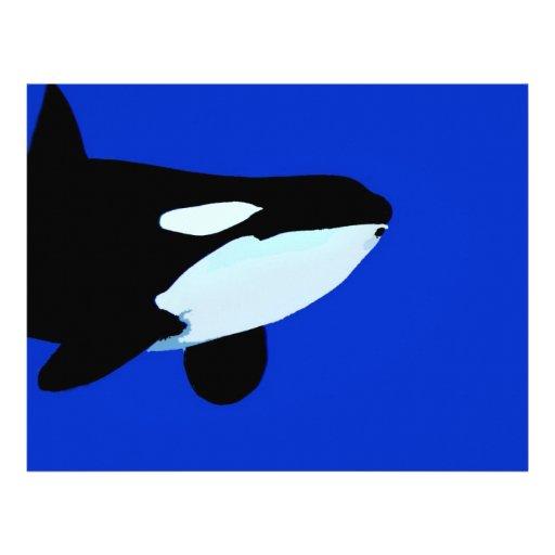gráfico subacuático de la orca de la orca membrete personalizado
