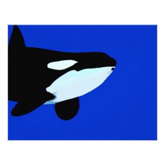 gráfico subacuático de la orca de la orca membretes personalizados