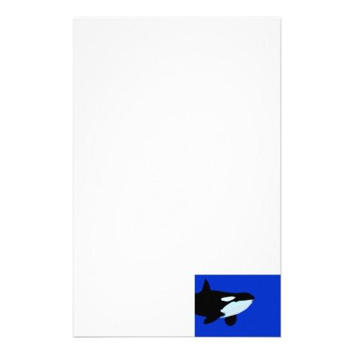 gráfico subacuático de la orca de la orca papeleria personalizada