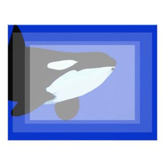 gráfico subacuático de la orca de la orca plantilla de membrete