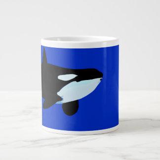 gráfico subacuático de la orca de la orca taza de café gigante