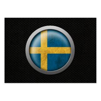 Gráfico sueco del disco de la bandera de la malla  plantilla de tarjeta de negocio