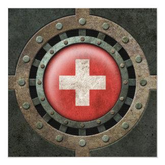 Gráfico suizo de acero industrial del disco de la invitacion personalizada
