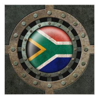 Gráfico surafricano de acero industrial del disco invitación personalizada