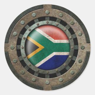 Gráfico surafricano de acero industrial del disco etiqueta redonda