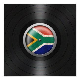 Gráfico surafricano del álbum de disco de vinilo d comunicado personalizado