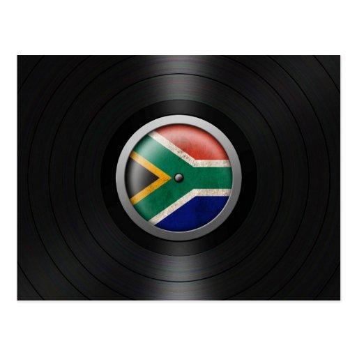 Gráfico surafricano del álbum de disco de vinilo d tarjeta postal