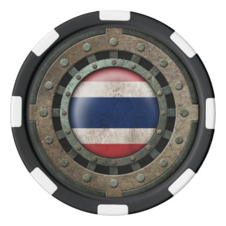 Gráfico tailandés de acero industrial del disco de fichas de póquer