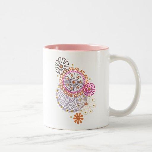gráfico taza de café de dos colores