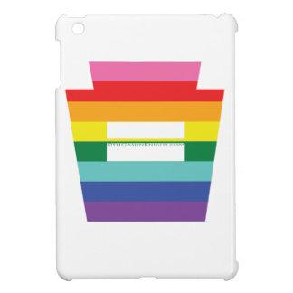Gráfico trapezoidal del arco iris de la igualdad d iPad mini fundas