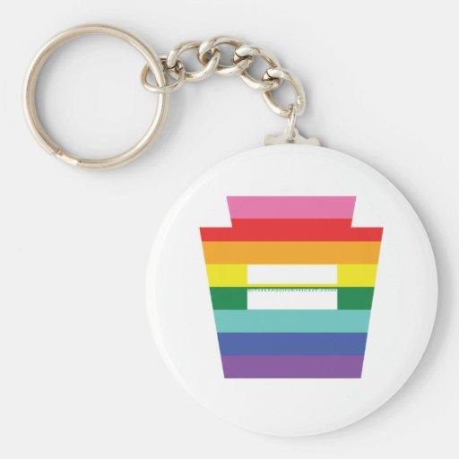 Gráfico trapezoidal del arco iris de la igualdad d llaveros personalizados