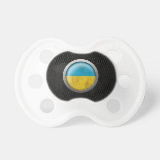 Gráfico ucraniano del disco de la bandera de la ma chupetes de bebé