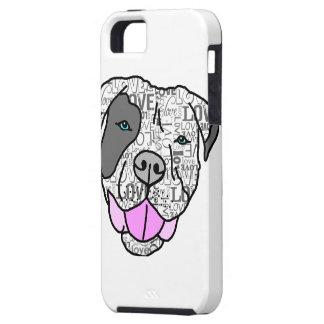 Gráfico único y elegante del amor del pitbull iPhone 5 Case-Mate protector