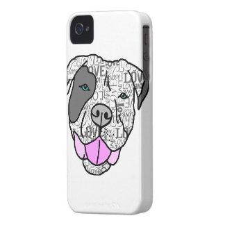Gráfico único y elegante del amor del pitbull Case-Mate iPhone 4 carcasas