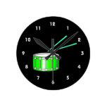 gráfico verde de la trampa con los palillos reloj de pared