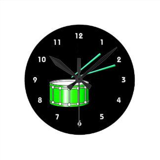 gráfico verde de la trampa con los palillos reloj redondo mediano