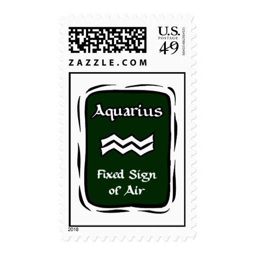 Gráfico verde del acuario sello