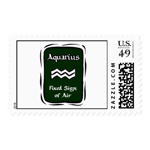 Gráfico verde del acuario sellos