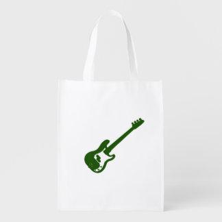 gráfico verde inclinado de la guitarra baja bolsas para la compra
