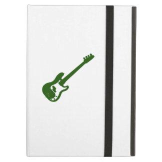 gráfico verde inclinado de la guitarra baja
