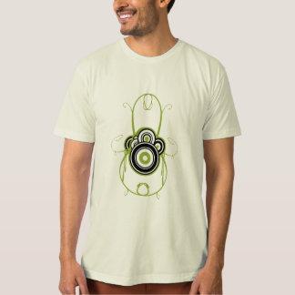 gráfico verde t-shirt4 del círculo remeras
