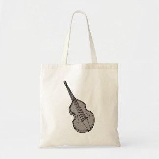 Gráfico vertical de la guitarra baja del violín bolsas lienzo