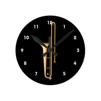 gráfico vertical del trombone relojes de pared