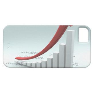 Gráfico y flecha de barra con fórmula funda para iPhone 5 barely there