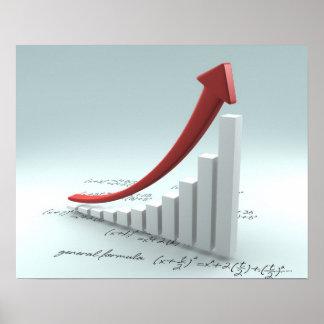 Gráfico y flecha de barra con fórmula póster