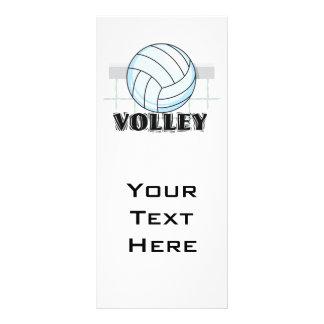 gráfico y texto del voleibol del voleo lonas personalizadas