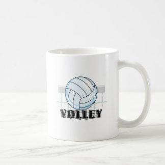 gráfico y texto del voleibol del voleo tazas