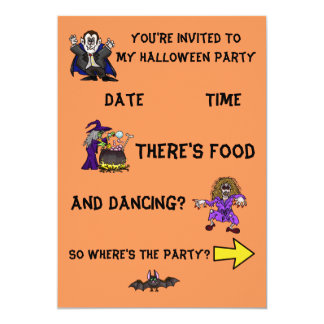 Gráficos 2-Sided de la diversión de la invitación