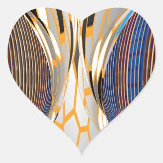 Gráficos azules abstractos de FineArt Pegatina En Forma De Corazón