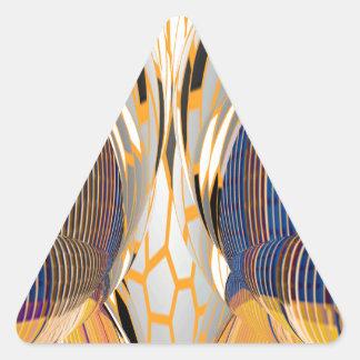 Gráficos azules abstractos de FineArt Pegatina Triangular