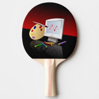 Gráficos de ordenador pala de tenis de mesa