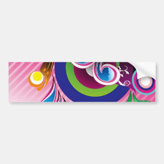 Gráficos de vector coloridos maravillosos libres d etiqueta de parachoque