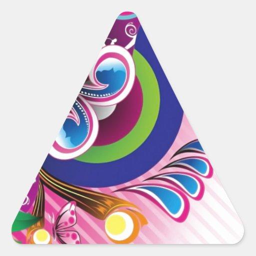 Gráficos de vector coloridos maravillosos libres pegatina triangular