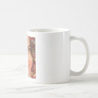 Gráficos del chica de la travesura de la diva en l taza de café