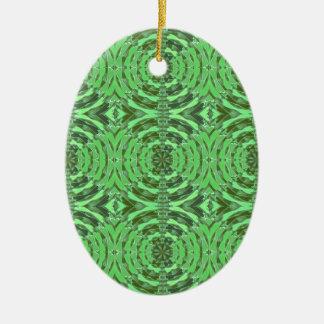 Gráficos del DIAMANTE del verde esmeralda Adorno Ovalado De Cerámica