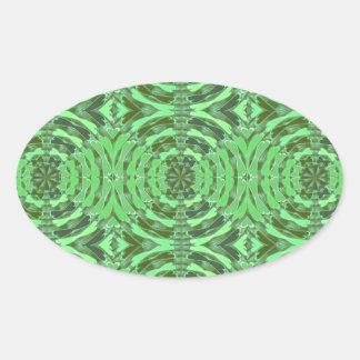 Gráficos del DIAMANTE del verde esmeralda Pegatina Ovalada