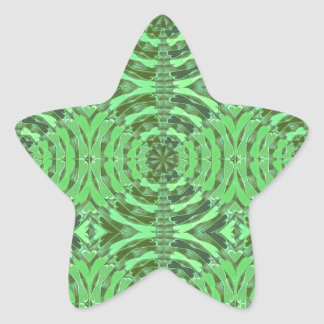 Gráficos del DIAMANTE del verde esmeralda Pegatina En Forma De Estrella