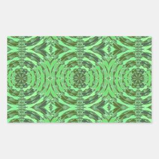 Gráficos del DIAMANTE del verde esmeralda Pegatina Rectangular