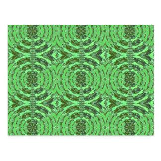Gráficos del DIAMANTE del verde esmeralda Tarjetas Postales