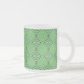 Gráficos del DIAMANTE del verde esmeralda Taza Cristal Mate